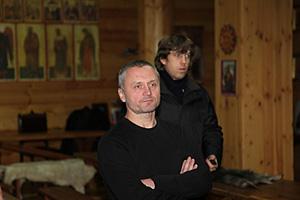 Руководитель школы Любки А.Г. Гудков. На заднем плане К.Любин.