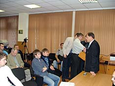 Перед началом заседания А.А. Половинкин рассказал собравшимся о прошедшем этим летом 2-м национальном празднике Русского рукопашного боя