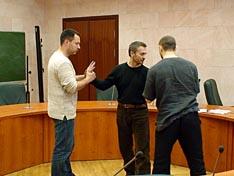 Доклад А.Г. Гудкова сопровождался демонстрацией техники с помощью ассистентов