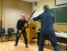 во время доклада была затронута тема штыкового боя