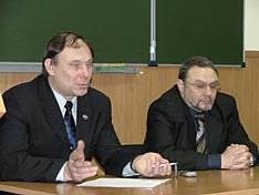 А.А. Половинкин и И.В. Зайчиков в Президиуме ЭАС